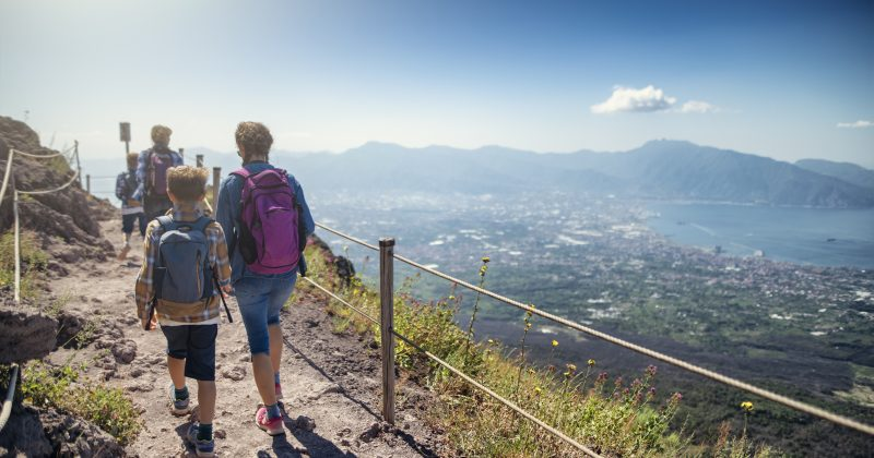 Family-on-the-top-of-Mount-Vesuvius-with-wine-tasting-Day-Trip
